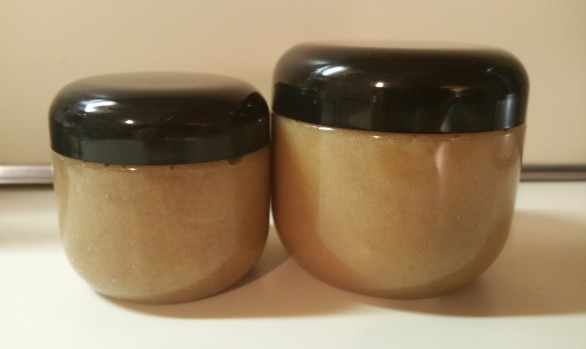 almond nutty putty sugar scrub