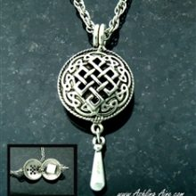 Pewter Celtic Knot Diffuser Necklace