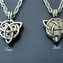 Pewter Trinity Diffuser Necklace